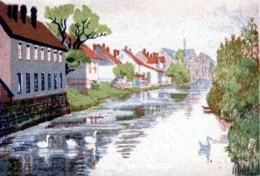 Marie-Steinbecker-Lippe-Steindruck-um-1910
